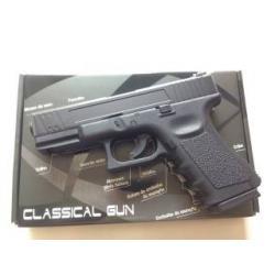 New.Glock19 Co2. สีดำ Power (Muzzle Velocity) 450 FPS (CO2 Gas)