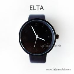 นาฬิกาข้อมือรุ่น ELTA หน้าปัดดำ-สายสีดำ