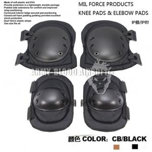 MIL FORCE Advanced Tactical Knee & Elbow Pads (BK/CB)prev next