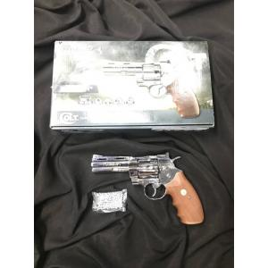 "New.Umarex COLT .357 PYTHON 4"" โลหะทั้งกระบอก Full Metal CO2 Revolver ปืนลูกโม่จากค่าย Umarex ไต้หวัน ลูกโม่ระบบแก๊ส Co2 (ลำกล้อง4นิ้ว) ปืนสีเงินเงา มาพร้อมปลอกกระสุน 6 นัด ขนาด .357 Magnum โครงปืนเป็นโลหะทั้งกระบอก มาพร้อมตัวโหลดกระสุนหรือเจ็ทโหลด ร"