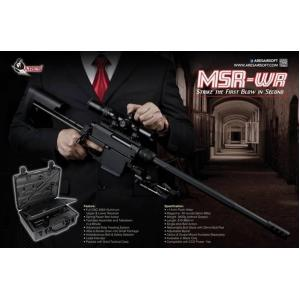 ARES MSR-WR FEATURES 40 rounds Magazine Full CNC 6063 Aluminum Upper & Lower Body Tool-less Assemble and Takedown in a Minute Ambidextrous Bolt & Safety Selector Advanced Slide Feeding System Adjustable Bipod and Butt Pad SPECIFICATION TYPE : Spring Power