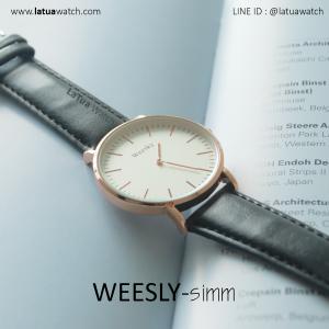นาฬิกาข้อมือ รุ่น WEESLY-SIMM สีดำ