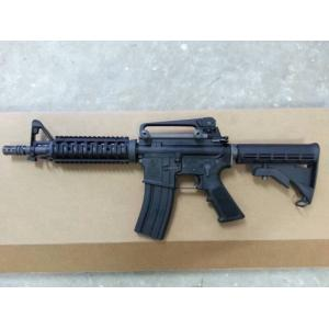 WE M4 CQB/R Gas Blow Back Rifle (Black, Open Chamber)