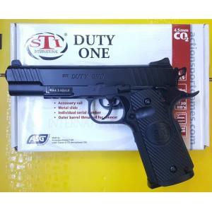 ปืนสั้นอัดแก๊สASG STI Duty One Blowback Co2 4.5mm/.177cal.Pistol ✔น้ำหนัก Weight: 825g ✔ความยาว Length: 220mm ✔ขนาดลูก BB: 4.5mm/.177 cal. ✔ยิงระบบ Fire Modes: Semi-Auto ✔ความแรง Muzzle Velocity: 450Fps. ✔บรรจุลูก