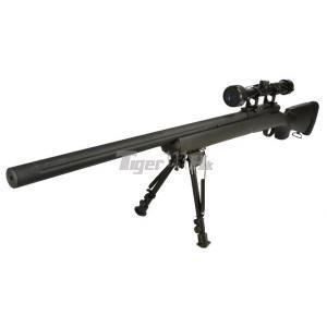 New.Snow.Wolf.M24.SW-04 อัพเกรด กล้องพร้อมขาทราย กล่องไกเหล็ก+สูบเหล็ก (สีดำ BK) แรง 480 ราคาพิเศษ