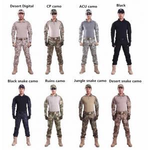 New.บุรุษทหารรบเสื้อและกางเกงสีดำแขนยาวยุทธวิธีชุดกบกองทัพทหารAirsoftเครื่องแบบP Ainballเสื้อผ้า ราคาพิเศษ
