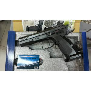 New.KWC MODEL 75 TAC BLOWBACK BB PISTOL TABLE TOP REVIEW