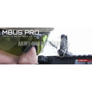 Magpul MBUS Pro Front Rear Back Up Sight (BK)prev next