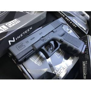 New.Classical Glock19 ปืนบีบีกัน ระบบแก๊ส Co2 แรง 590 fps ใช้ลูกกระสุนขนาด 6mm Classical Gun Glock19 FBI ปืนบีบีกัน ระบบแก๊สCo2 550-590 fps ใช้ลูกกระสุนขนาด 6mm ไม่มีโบวแบล็ค หรือดึงสไลค์ไม่ได้ จึงเป็นที่มาของความแรงปืน และทนทานกว่า ปืนสั้น Co2 ที่มีโบวแบ