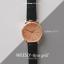 นาฬิกาข้อมือ หน้าปัดเล็ก สายหนังสีดำ รุ่น WEESLY-Rose Gold thumbnail 10