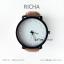นาฬิกาข้อมือรุ่น Richa หน้าปัดน้ำตาล-สายหนังสีดำ thumbnail 14
