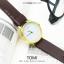 นาฬิกาข้อมือ รุ่น TOMI หน้าปัดขาว สายสีน้ำตาลเข้ม thumbnail 2