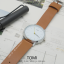 นาฬิกาข้อมือ รุ่น TOMI หน้าปัดขาว สายสีน้ำตาลเข้ม thumbnail 15