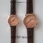 นาฬิกาข้อมือ หน้าปัดเล็ก สายหนังสีดำ รุ่น WEESLY-Rose Gold thumbnail 8