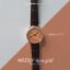นาฬิกาข้อมือ หน้าปัดเล็ก สายหนังสีดำ รุ่น WEESLY-Rose Gold thumbnail 11