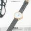 นาฬิกาข้อมือ รุ่น TOMI หน้าปัดขาว สายสีเทา thumbnail 3
