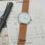 นาฬิกาข้อมือ รุ่น TOMI หน้าปัดขาว สายสีน้ำตาลเข้ม thumbnail 16