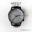 นาฬิกาข้อมือ หน้าปัดใหญ่ สายหนังสีน้ำตาล รุ่น WEESLY นาฬิกาผู้ชาย thumbnail 1