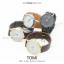 นาฬิกาข้อมือ รุ่น TOMI หน้าปัดขาว สายสีน้ำตาลเข้ม thumbnail 7