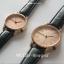 นาฬิกาข้อมือ หน้าปัดเล็ก สายหนังสีดำ รุ่น WEESLY-Rose Gold thumbnail 2