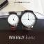 นาฬิกาข้อมือ หน้าปัดใหญ่ รุ่น WEESLY-BASIC หน้าปัดขาว สายหนังสีน้ำตาล thumbnail 3