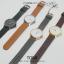 นาฬิกาข้อมือ รุ่น TOMI หน้าปัดขาว สายสีน้ำตาลเข้ม thumbnail 8