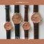 นาฬิกาข้อมือ หน้าปัดเล็ก สายหนังสีดำ รุ่น WEESLY-Rose Gold thumbnail 5