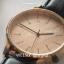 นาฬิกาข้อมือ หน้าปัดเล็ก สายหนังสีดำ รุ่น WEESLY-Rose Gold thumbnail 3