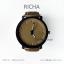 นาฬิกาข้อมือรุ่น Richa หน้าปัดน้ำตาล-สายหนังสีดำ thumbnail 11