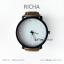 นาฬิกาข้อมือรุ่น Richa หน้าปัดน้ำตาล-สายหนังสีดำ thumbnail 13