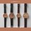 นาฬิกาข้อมือ หน้าปัดเล็ก สายหนังสีดำ รุ่น WEESLY-Rose Gold thumbnail 6
