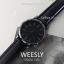 นาฬิกาข้อมือ หน้าปัดเล็ก รุ่น WEESLY นาฬิกาผู้หญิง สีดำล้วน thumbnail 1