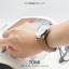 นาฬิกาข้อมือ รุ่น TOMI หน้าปัดขาว สายสีน้ำตาลเข้ม thumbnail 14