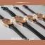 นาฬิกาข้อมือ หน้าปัดเล็ก สายหนังสีดำ รุ่น WEESLY-Rose Gold thumbnail 4