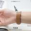 นาฬิกาข้อมือ รุ่น TOMI หน้าปัดขาว สายสีน้ำตาลเข้ม thumbnail 13