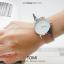 นาฬิกาข้อมือ รุ่น TOMI หน้าปัดขาว สายสีน้ำตาลเข้ม thumbnail 12