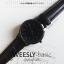 นาฬิกาข้อมือ หน้าปัดใหญ่ รุ่น WEESLY-BASIC หน้าปัดขาว สายหนังสีน้ำตาล thumbnail 7