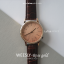 นาฬิกาข้อมือ หน้าปัดเล็ก สายหนังสีดำ รุ่น WEESLY-Rose Gold thumbnail 13