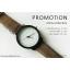 นาฬิกาข้อมือรุ่น Richa หน้าปัดน้ำตาล-สายหนังสีดำ thumbnail 9