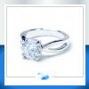 แหวนเงินแท้ เพชรสังเคราะห์ ชุบทองคำขาว RG1568 - 2ct. CHAPS