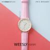 นาฬิกาข้อมือ รุ่น WEESLY-SIMM สีชมพู