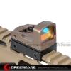 New.GB RMS Reflex Mini Red Dot Sight With Vented Mount and Spacers For Airsoft Glock Pistol Aluminium Black NGA1323 ติดกับปืน GLOCK 17 / 18 / 19 และ ปืนยาว M4 CMMG .22 ราคาพิเศษ