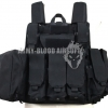 MAR Tactical CIRAS Armor Vest USMC Force Recon HEAVY DUTY Tactical Molle Combat Strike Plate Carrier Vest (Black)