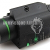 Everbright Tactical Metal Weapon Flashlight With Strobe Green Laser combo