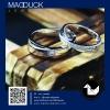 แหวนคู่รักเงินแท้ เพชรสังเคราะห์ ชุบทองคำขาว รุ่น LV15271528 Cross Road Semi