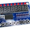 8-Digit 7 Segment Display with 8 LED and 8 Push Switches (แถมสายต่อฟรี)