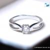แหวนเงินแท้ เพชรสังเคราะห์ ชุบทองคำขาว รุ่น RG1521 Chapter G