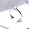 แหวนเงินแท้ เพชรสังเคราะห์ ชุบทองคำขาว รุ่น RG1532 0.50 Carat single