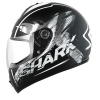 SHARK S600 PINLOCK EXIT Mat Black white black KWK/HE2462