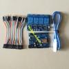 WeMos D1 WiFi ESP8266 +RELAY 4OUT (240V 1A) + สายจั้ม 40 เส้น 10 CM